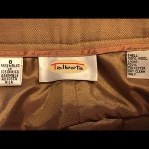 8 Pants - Talbots Wool Pants w/Cuffs Size 8  Lined